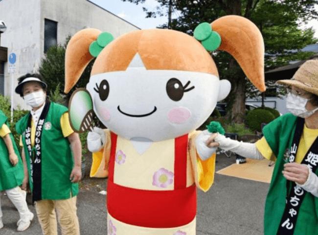 山梨県山中湖のフジマリモキャラクター「MARIピーちゃん」